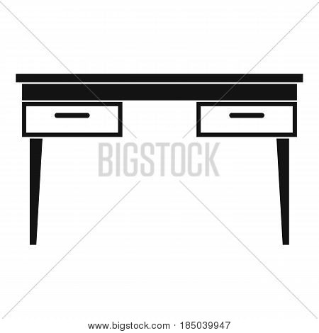 Wooden table icon in simple style isolated vector illustration
