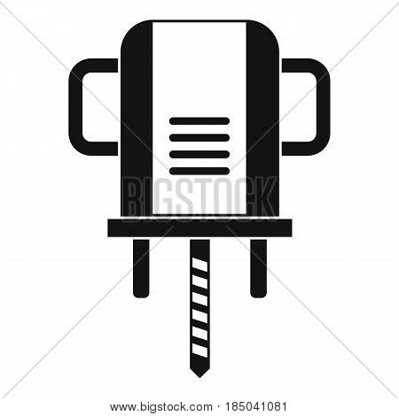 Boer drill icon in simple style isolated vector illustration
