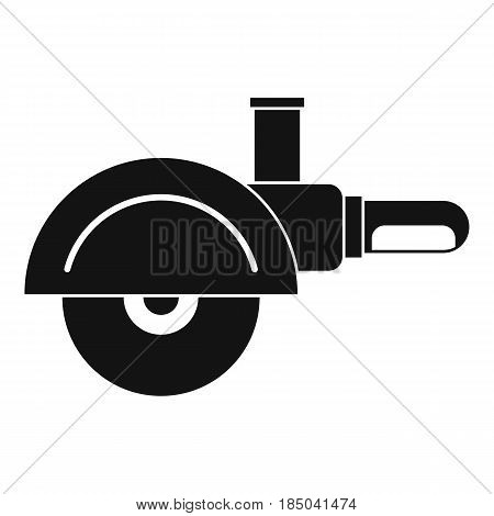High speed cut off machine icon in simple style isolated vector illustration