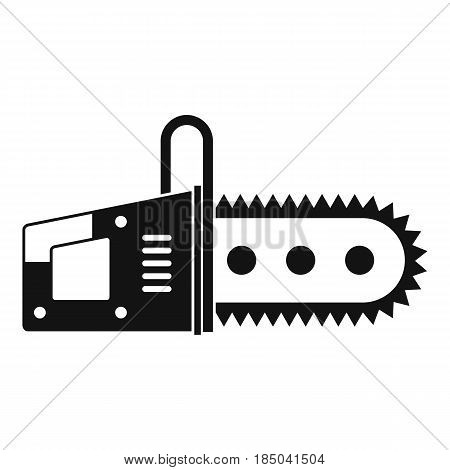 Chainsaw icon in simple style isolated vector illustration