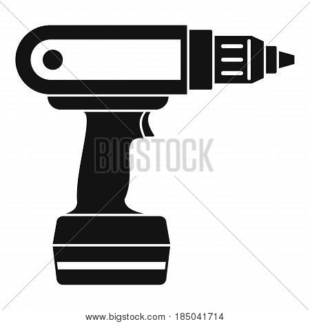 Electric screwdriver drill icon in simple style isolated vector illustration