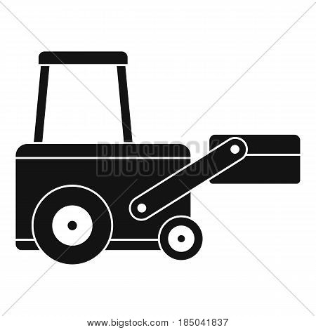 Truck to lift cargo icon in simple style isolated vector illustration