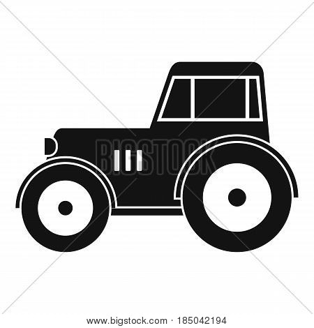 Tractor icon in simple style isolated vector illustration