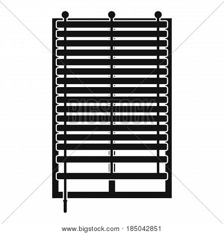 Window with wooden jalousie icon in simple style isolated vector illustration