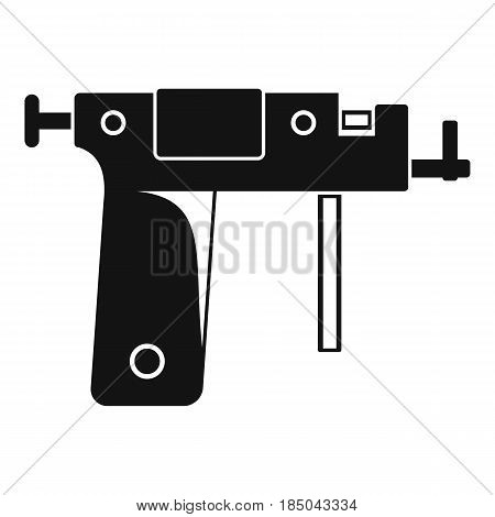 Piercing gun icon in simple style isolated vector illustration