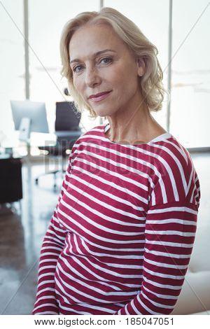 Portrait of mature entrepreneur at office