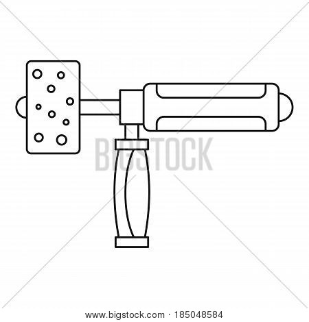 Precision grinding machine icon in outline style isolated vector illustration