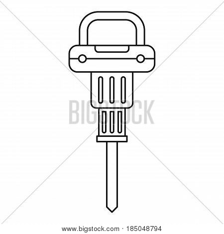 Pneumatic hammer icon in outline style isolated vector illustration