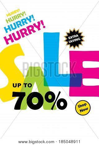 creative hurry big offer sale banner design