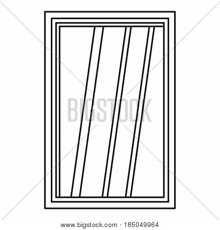 White window frame icon in outline style isolated vector illustration