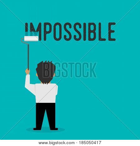 The Impossible Is Possible, The Illustration Demonstrates The Motivation