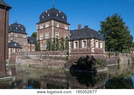 The historic Castle Ahaus in Westphalia, Germany, Europe