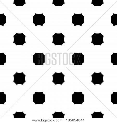 Vector monochrome seamless texture. Black & white geometric minimalist pattern, illustration with simple figures, octagons. Abstract repeat background. Design element for prints, decoration, furniture