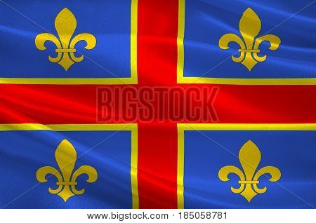 Flag of Clermont-Ferrand is the prefecture (capital) of the Puy-de-Dome department and commune of France. 3D illustration