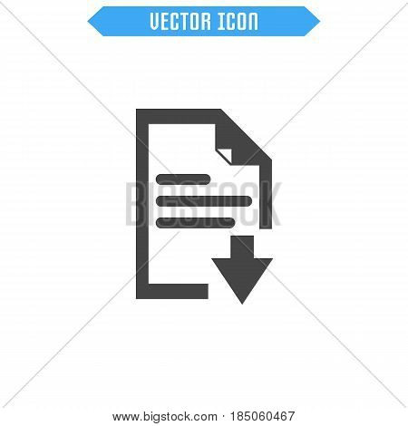 Document Vector Icon. Flat Icon. Vector Sign Symbol.