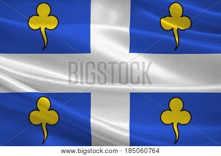 Flag of Ambert is a commune in the Puy-de-Dome department in Auvergne in central France. 3D illustration