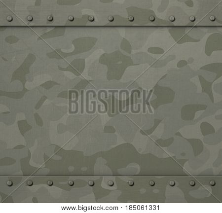 Military armor with camouflage 3d illustration background