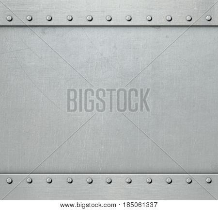 metal background with rivets 3d illustration