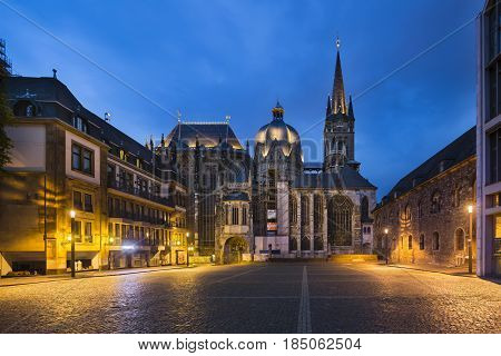 Aachen Cathedral At Night, Editorial