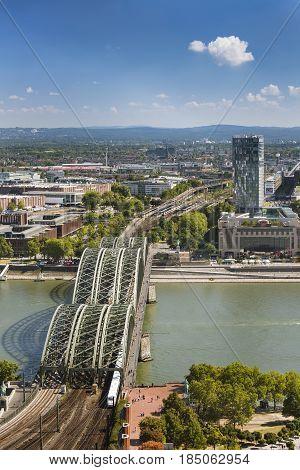Cologne Hohenzollern Bridge, Germany, Editorial