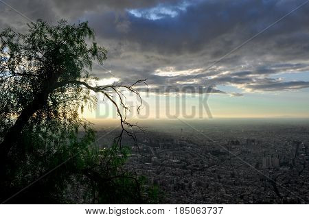 a view of Damascus in Syria before the war , The Mount called Qassioun