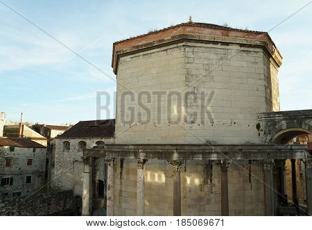 Palace of the Roman Emperor Diocletianus in the Unesco heritage city of Split, Croatia
