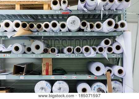 Screen Printing Material Rolls Shelf Machine Industrial Professional Workshop