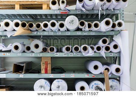 Screen Printing Material Rolls Shelf Machine Industrial Professional Workshop