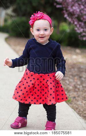 Cute Baby Girl Standing