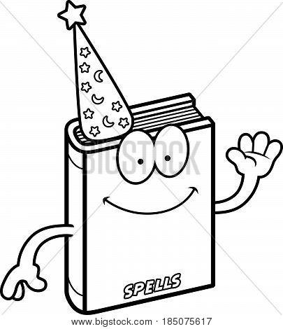 Cartoon Spell Book Waving