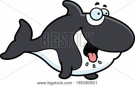 Hungry Cartoon Killer Whale
