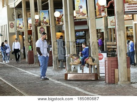 FORT WORTH, TEXAS, MARCH 15. The Fort Worth Stockyards on March 15, 2017, in Fort Worth, Texas. A Look at Stockyards Station in the Fort Worth Stockyards historic district in Fort Worth, Texas.