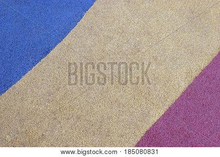 Multi-colored Floors Of Fine Aggregate