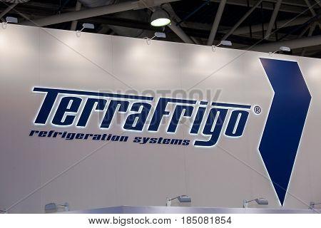 Moscow, Russia - April, 2017: Logo sign of Terra Frigo company.