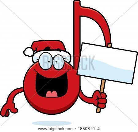 Cartoon Christmas Music Sign