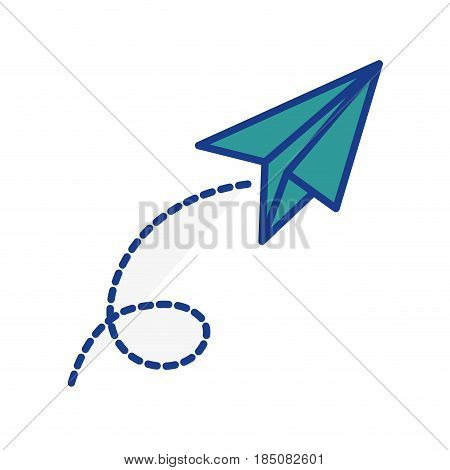 paperplane icon over white background. vector illustration