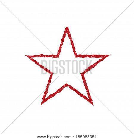 Red blood grunge star. Communism symbol. Authoritarian Political regime