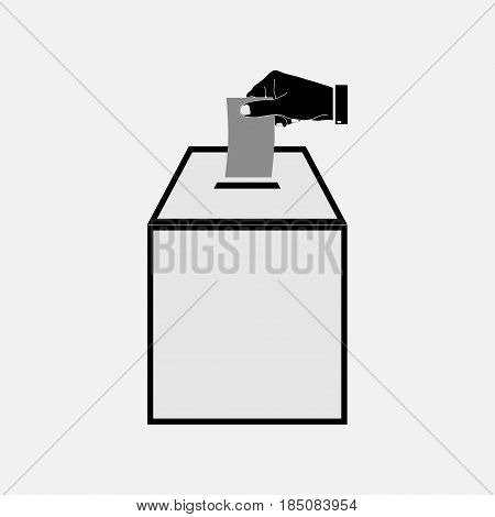 icon voting, ballot box, the election, fully editable vector image
