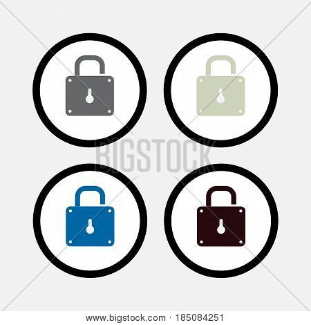 lock icon, safety, security, fully editable vector image