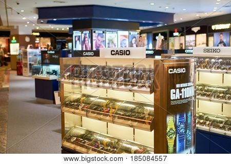 SINGAPORE - CIRCA SEPTEMBER, 2016: a store at Singapore Changi Airport. Changi Airport is one of the largest transportation hubs in Southeast Asia.