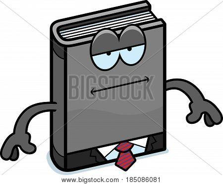 Cartoon Business Book Bored