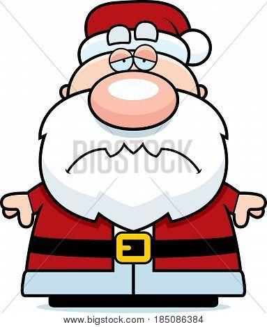 Tired Cartoon Santa Claus