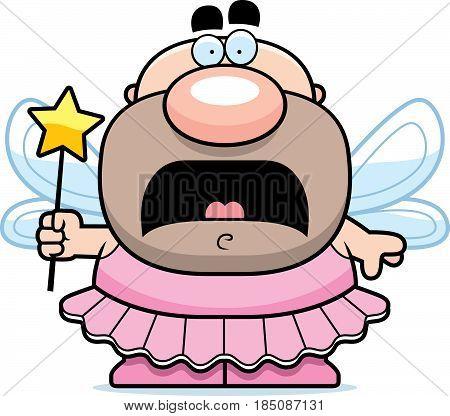 Scared Cartoon Tooth Fairy