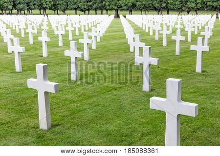 American cemetery near Romagne-sous-Faucon for First World War One soldiers who died at Battle of Verdun
