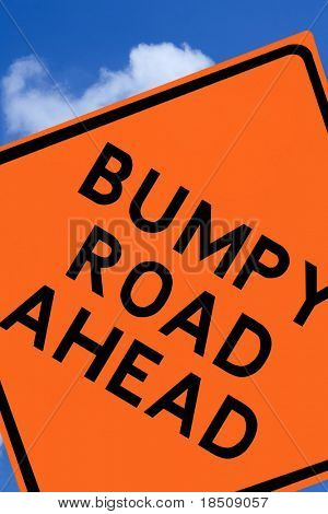Bumpy Road Ahead Sign