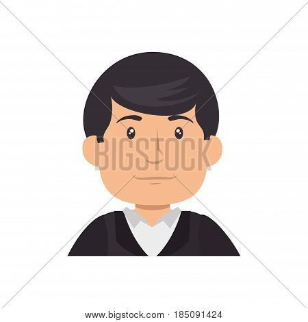 man cartoon icon over white background. colorful desing. vector illustration