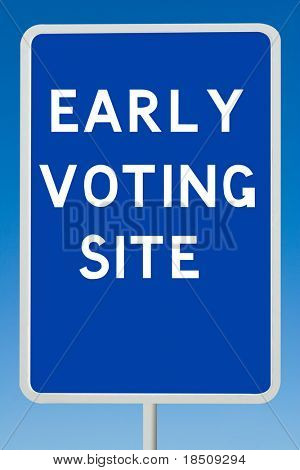 Early Voting Sign