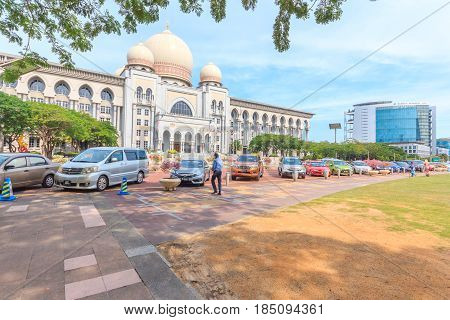 PUTRAJAYA, MALAYSIA - AUGUST 15, 2016: Palace of Justice (Istana Kehakiman) in the Federal centre of Malaysia on August 15 2016 in Putrajaya Malaysia.