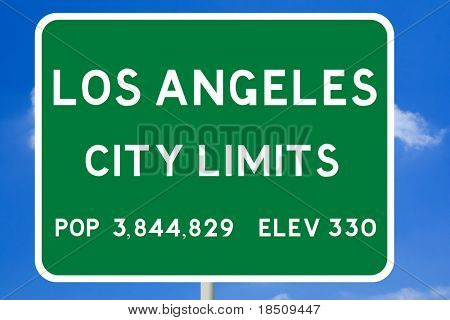 Los Angeles City Limits Road Sign