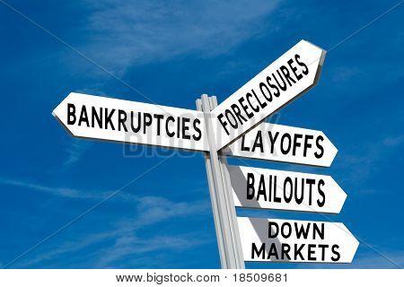 Financial Crisis Sign